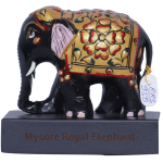 RRS Wooden painted Elephantwith Base