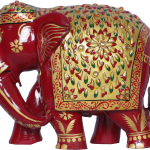 SSY Painted wooden elephant1