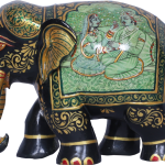 XRSY Painted Wooden Elephant
