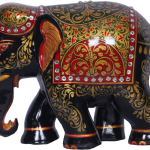 GSY Painted Wooden Elephant 31.03