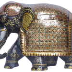 HYY painted Wooden Elephant31.3