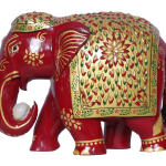 NSY 2 Painted Wooden Elephant31.3